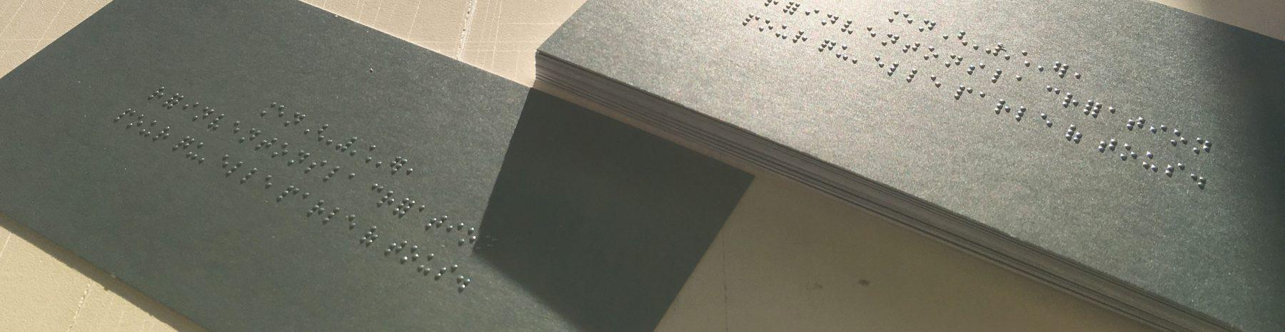 impression braille  carte de voeux